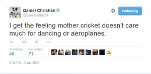 Dan Christian tweet Mother Cricket