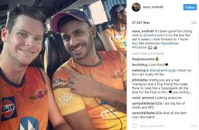 Steve Smith & Manoj Tiwary